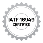 IATF 16949 certification badge