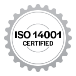 ISO 14001 certification badge