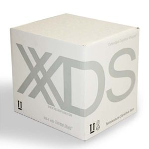 Photograph of closed XDS package