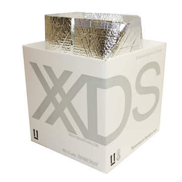 Photograph of the XDS 12 shipper box